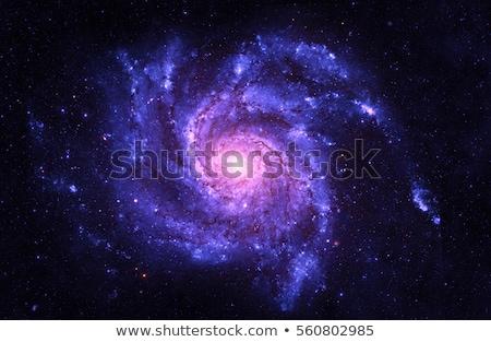Stockfoto: Spiral Galaxy And Space Nebula