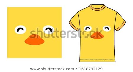 футболки дизайна графических желтый куриного Сток-фото © bluering