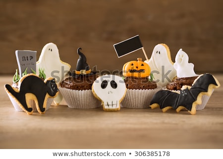 Halloween dessert in shape of grave Stock photo © furmanphoto