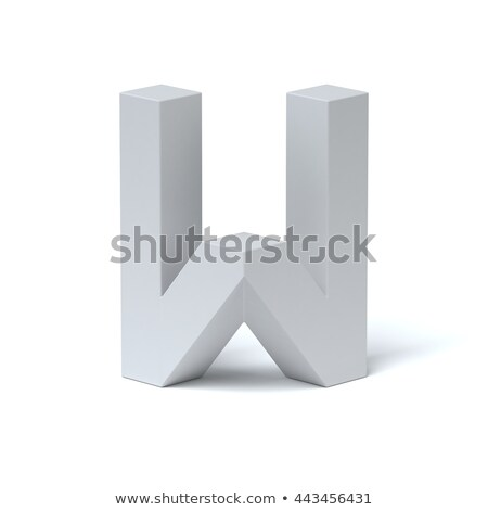 Stock photo: Blue extruded font Letter W 3D