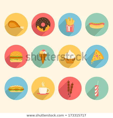 colourful fast food icons Stock photo © cidepix