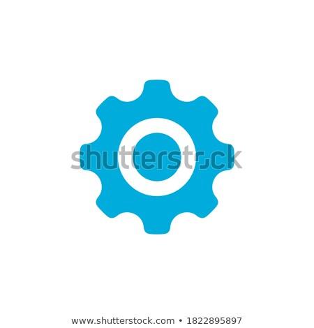 Viselet fogaskerék ikon vektor egyszerű szimbólum Stock fotó © kyryloff