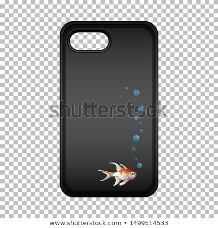 Graphic design on mobile phone case with cute fish Stock photo © bluering