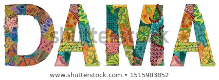 Stock photo: Word DAMA. Vector zentangle object for decoration