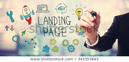 Seo optymalizacja lądowanie strona stronie ruchu Zdjęcia stock © RAStudio