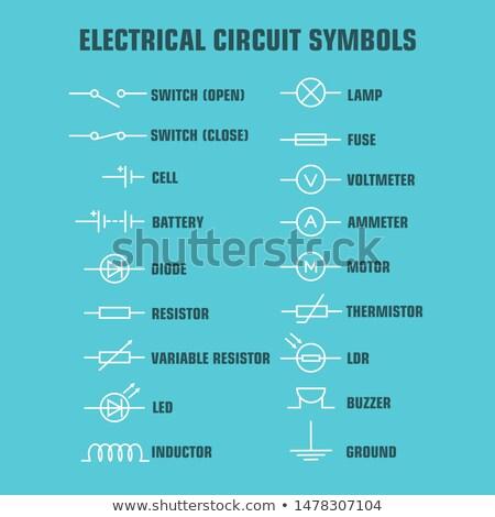 Elektrische elektronische circuit diagram symbolen ingesteld Stockfoto © ukasz_hampel