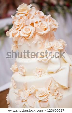 ケーキ バラ 食品 フルーツ チョコレート 表 ストックフォト © Alkestida