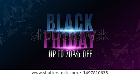 black friday sale neon background with glowing particles stock photo © sarts
