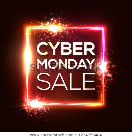 glowing cyber monday technology style background design stock photo © sarts
