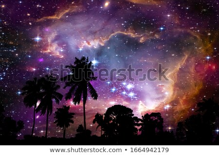Nebulosa céu noturno elementos imagem nuvens abstrato Foto stock © NASA_images