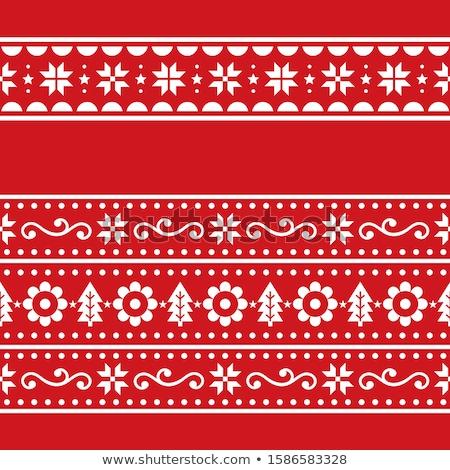 Christmas sztuki wektora powtarzalne zestaw Zdjęcia stock © RedKoala