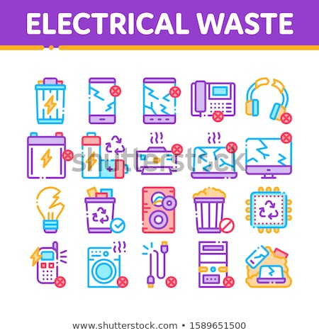Electrical Waste Tools Collection Icons Set Vector Stock photo © pikepicture