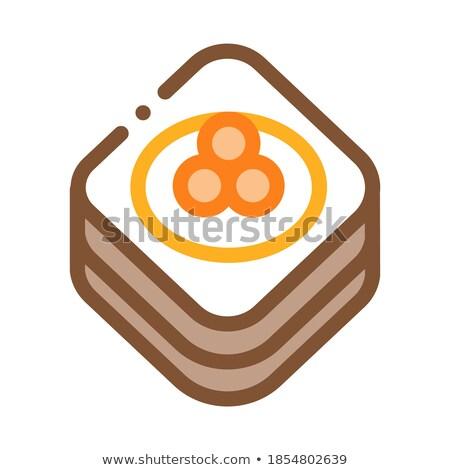 Kaviaar pannenkoek icon vector schets illustratie Stockfoto © pikepicture