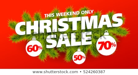 Christmas Sale Special Discount Promotional Poster Stock photo © robuart