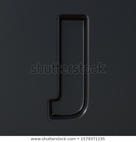 Negro grabado fuente carta 3D 3d Foto stock © djmilic