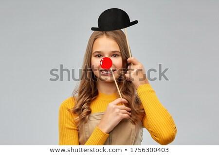 Uśmiechnięty strony Fotografia Zdjęcia stock © dolgachov