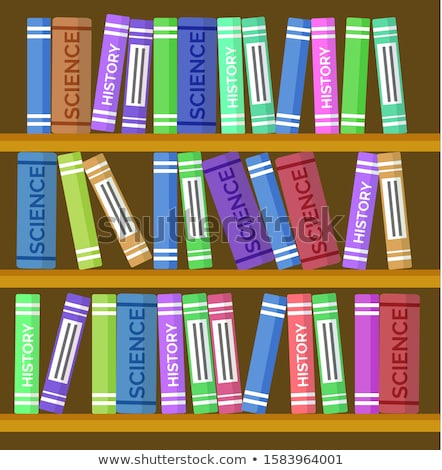 Online Education, Bookcase or Book Shelf Backdrop Stock photo © robuart