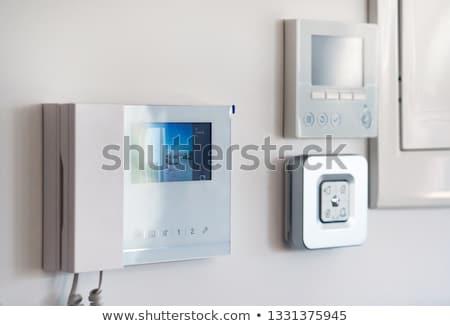 Witte muur video uitzicht op straat smart moderne Stockfoto © amok