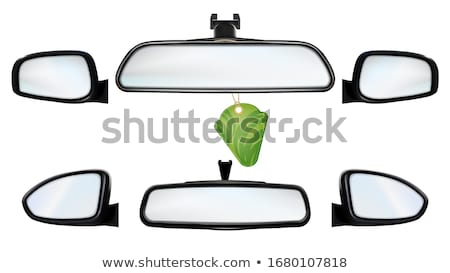 Car Rearview Mirrors With Air Freshener Set Vector Stock photo © pikepicture