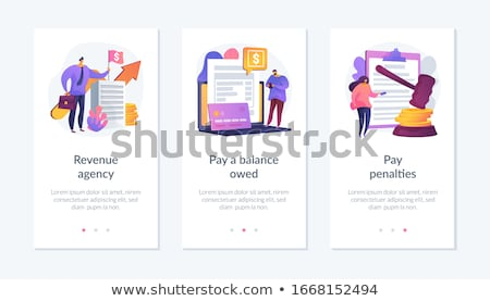 Tax payment stages app interface template. Stock photo © RAStudio