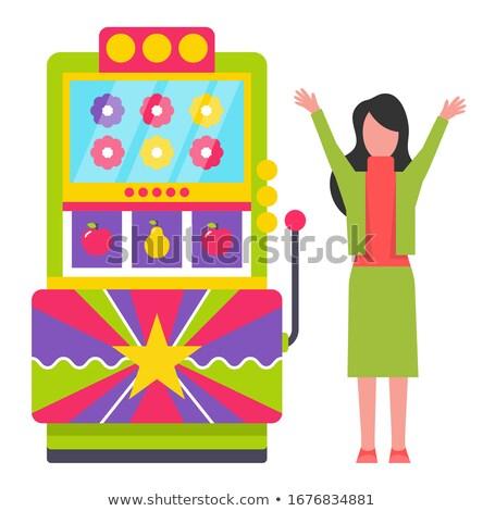 Gry maszyny kwiaty znaki hazardu gry Zdjęcia stock © robuart