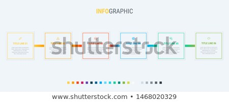 Vector infographics timeline design template with rectangular elements. Content, schedule, timeline, Stock photo © ukasz_hampel