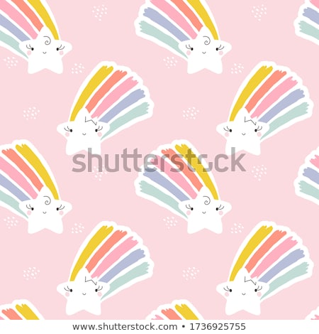 Creative vector illustration of shooting star with rainbow tail Stock photo © ussr