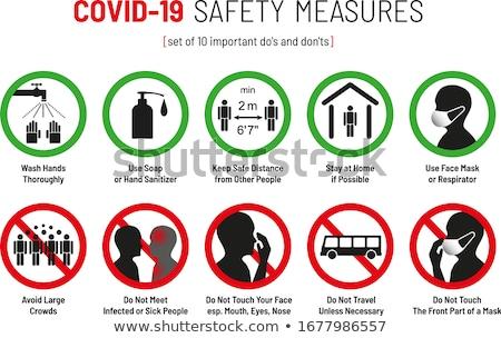 Coronavirus stopteken illustratie stoppen vector Stockfoto © enterlinedesign