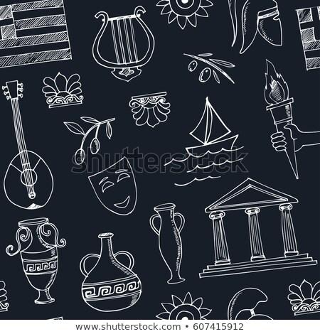 Griekenland land geschiedenis vector dun Stockfoto © pikepicture
