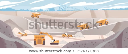 Wydobycie przemysłu maszyn pracy proces wektora Zdjęcia stock © robuart