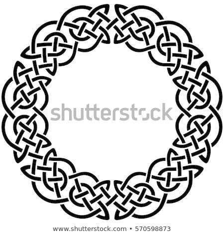Wiking dekoracyjny węzeł pierścień krzyż Zdjęcia stock © nazlisart