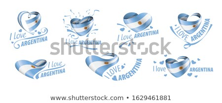 National flag of the Argentina in the shape of a heart and the inscription I love Argentina. Vector  Stock photo © butenkow