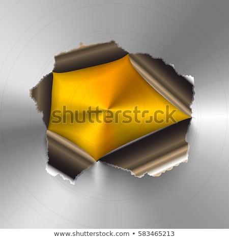 Strappato buco lucido raffinato oro metal Foto d'archivio © evgeny89