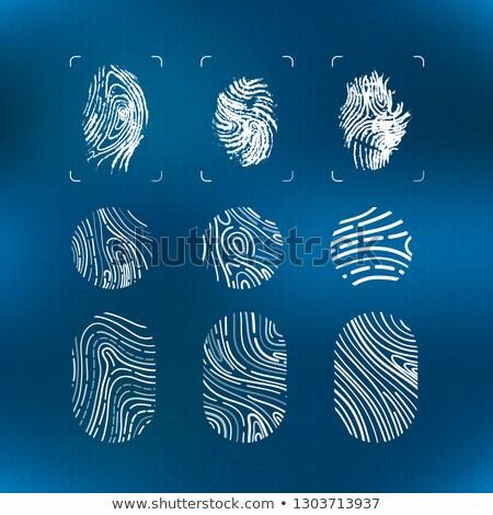 Ingesteld heldere witte futuristische vingerafdrukken moderne Stockfoto © evgeny89