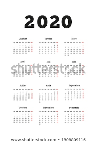 2020 year simple calendar on french language, A4 size vertical sheet isolated on white Stock photo © evgeny89