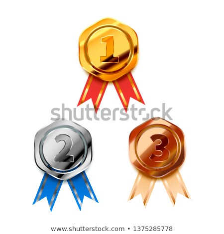 Or argent bronze gagnant Photo stock © evgeny89