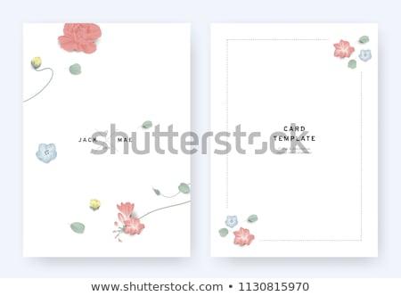 Minimalist silver floral flyer  Stock photo © orson