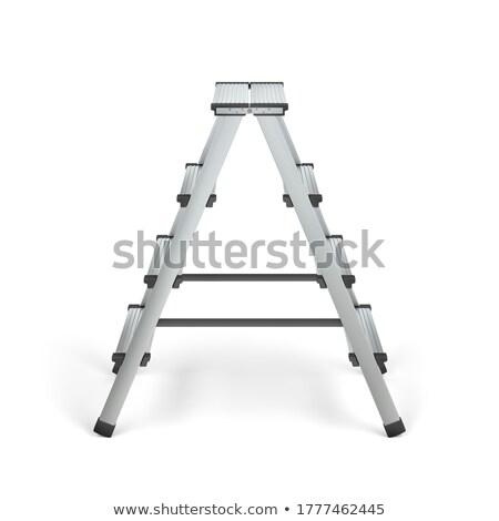 Foldable aluminum stepladder Stock photo © magraphics