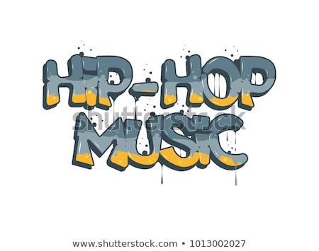 Muziek abstract rap boek prestaties Stockfoto © RAStudio