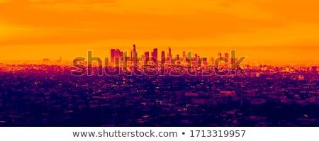 Infravörös városkép tetők reggel utca utazás Stock fotó © ldambies