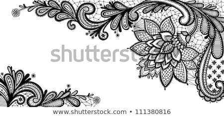 fekete · csipke · minta · űrlap · virág · fehér · textúra - stock fotó © ruslanomega