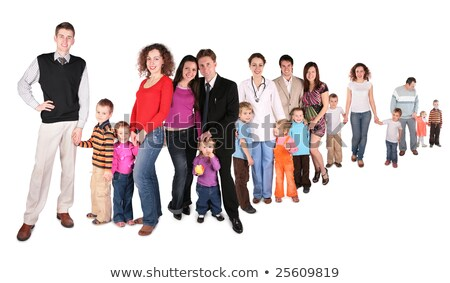 many families with children group isolated collage stock photo © paha_l
