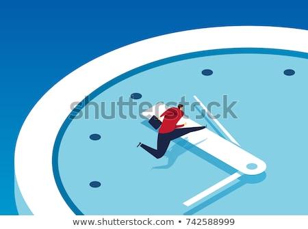 Stok fotoğraf: Iş · adamı · zaman · çalışma · saat · iş · para