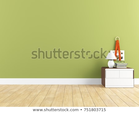 Verde penthouse moderno interior quarto exclusivo Foto stock © kash76