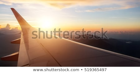 Jet aircraft in a spectacular sunset sky Stock photo © moses