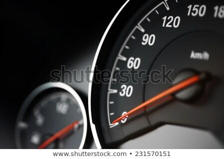 движущихся · Спортивный · автомобиль · черный · красный · скорости · темно - Сток-фото © dacasdo