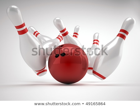 3d Bowling Ball crashing into the pins  Stock photo © dacasdo