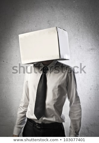 Business man with an box on his head Stock photo © dotshock