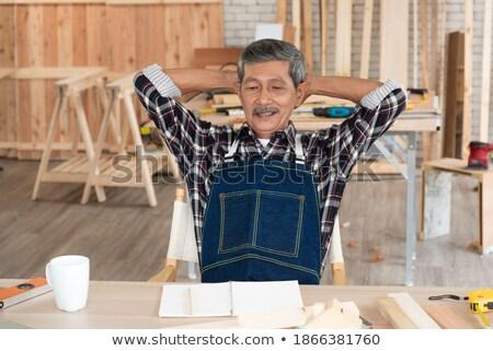 Artesano relajante mesa trabajo tiempo trabajador Foto stock © photography33
