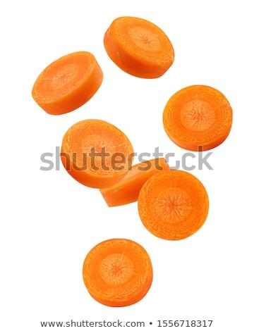 морковь Ломтики белый изолированный продовольствие фрукты Сток-фото © Rebirth3d